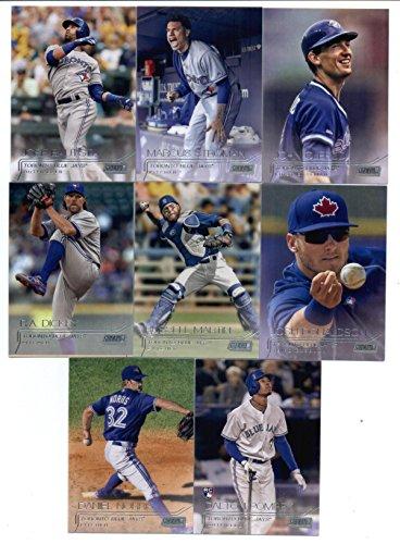 (2015 Topps Stadium Club Baseball Cards Toronto Blue Jays Team Set (12 Cards) Including Jose Bautista, Edwin Encarnacion, R.A. Dickey, Josh)