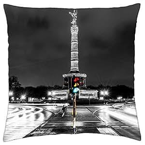 Columna de la victoria de Berlín–throw pillow cover case (16