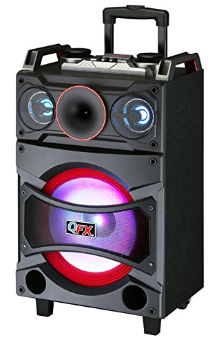 "QFX PBX-91210 High Powered 12"" Rechargeable Party Speaker"