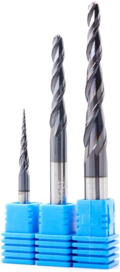 Drill Bit Sets Tungsten Solid Carbide Milling Cutter CNC Taper Ball Nose End Mill Wood Metal Cutter Router Bits Ball Nose Tapered End Mill-R1X60XD8X100L R0.25x15xd4x50l