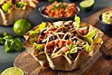 HIC Large Non-Stick Fluted Tortilla Shell Pans Taco Salad Bowl Makers, Non-Stick Carbon Steel, Set of 2 Tostada Bakers