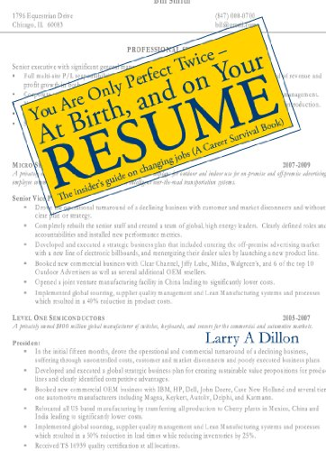 You're Only Perfect Twice: At Birth and on Your Resume (English Edition)