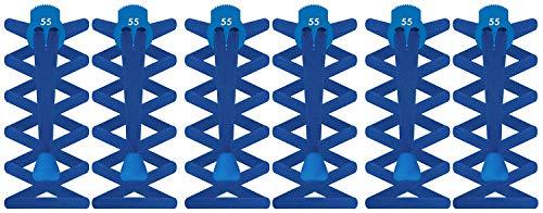 Sport® Con Hombre Única Talla 55 Mujer Pack Cierre 3 Blue Elásticos Planos Color Cordones Infantil Azul Cobalt 4SdwIq