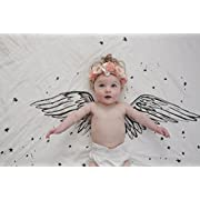 Baby Jives Organic Cotton Luxe Swaddle Blanket Tapestry - Angel Wings