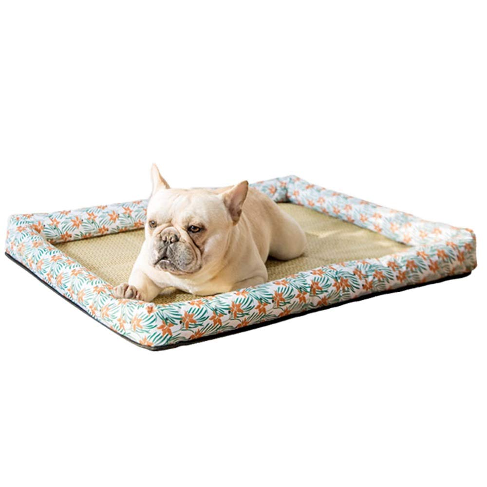 1005-S Pet Bed, Kennel Spring and Summer Mats Small Dog Dog Bed Cat Litter All Washable Cool Breathable Wear-Resistant Bite (color   1005-S)