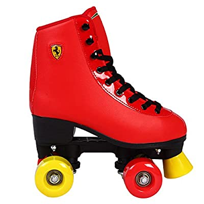 Ferrari Classic Roller Skates, Red, Euro Size 35-42 : Sports & Outdoors