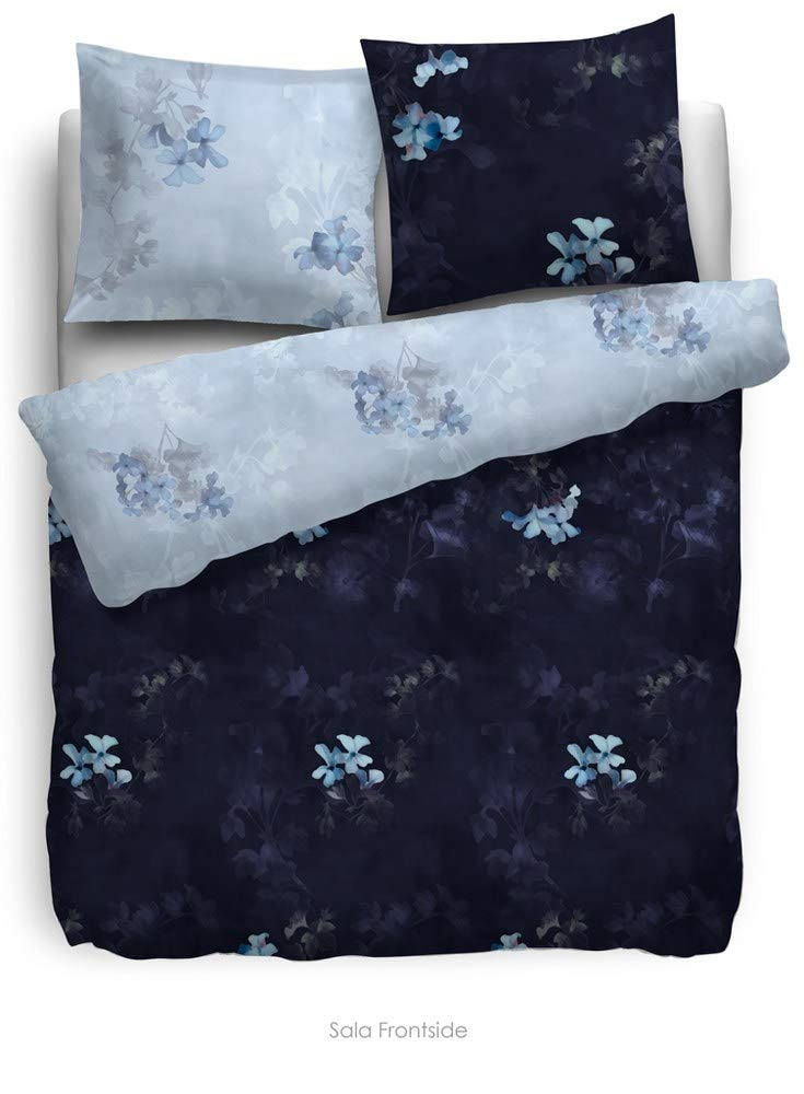 HnL Living Velvet Touch Sala Mako-Satin-Bettwäsche Blau 155x220 + 80x80