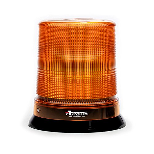 Abrams SAE Class-1 StarEye 7' Inch Dome 12 LED Magnet/Permanent Mount Construction Vehicle Warning Strobe Beacon Light - Amber