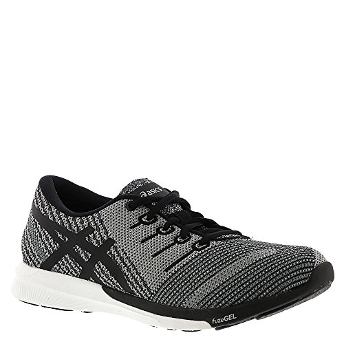 ASICS Women's fuzeX Knit Running Shoe Carbon/Black/White 9 (S)