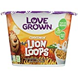Love Grown Foods Cereal - Cups - Lion Loops - Case of 12 - 1.1 oz