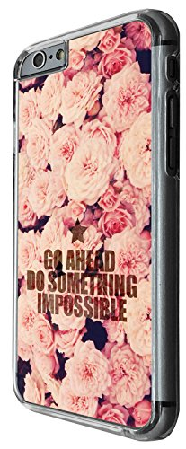1371 - Cool Fun Trendy cute kwaii roses go ahead do something impossible colourful floral flowers collage Design iphone 5C Coque Fashion Trend Case Coque Protection Cover plastique et métal - Clear