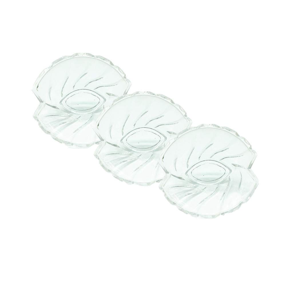 Leoyoubei 7.5 Ounce 4x2 Heat-resistant glass Crafts bowl for Ice Cream Dessert, Fruit salad bowl cutlery, Appetizer Stackable Dishes Ramekins - Transparent 2 Packs (Irregular shape bowl)