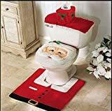 Run Santa Claus Bathroom Toilet Seat Cover Carpet