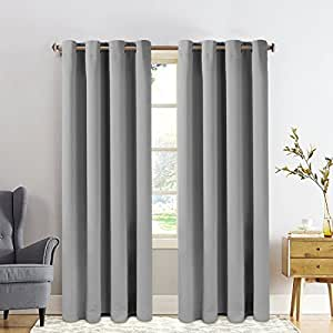 Fairyland blackout curtains window treatment thermal insulated grommet drape for - Amazon curtains living room ...