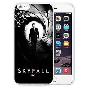 Beautiful Unique Designed iPhone 6 Plus 5.5 Inch Phone Case With Skyfall James Bond Daniel Craig_White Phone Case