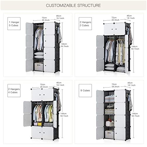 GEORGE&DANIS Portable Shoe Rack Storage, Shoe Shelf Cabinet 12 – Pair Shoe Organizer, Expandable Shoe Rack for Closets…