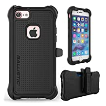 iPhone 7 Case, Ballistic [Tough Jacket Maxx Series] Heavy Duty Protection Black Case for Apple iPhone 7 Drop Test Certified 7ft Impact Drop Protection Rugged Rotating Holster Clip & Screen Protector