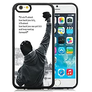Beautiful iPhone 6 4.7 Inch TPU Case ,Unique And Lovely Designed With Rocky Balboa Motivational Words iPhone 6 Phone Case