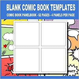 Amazon.com: 4: Blank Comic Book Templates:: 8.5 x 8.5, 62 Pages For ...