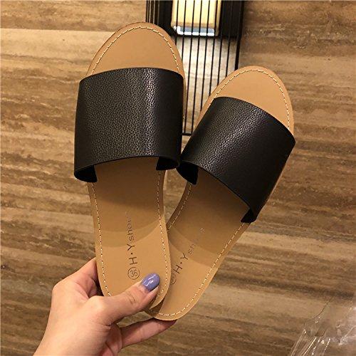 Neuer Stil Einfach Runden Kopf Flachen Boden Eine Art Die Print - Pantoffeln Slip Beweise und Kalten Beweise.