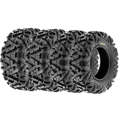 Set of 4 SunF A033 ATV UTV Tires 26x8-12 & 26x10-12, 6 Ply by SunF
