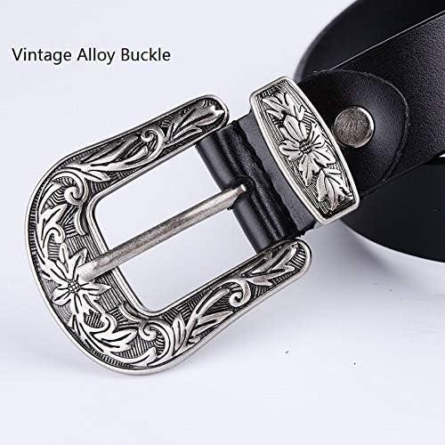4 Estilos Cinturones Mujer Ancho Retro a la Moda para Vestidos Belle Vous Cinturones de Mujer Negro Vintage Cinturones Cintura El/ástico Pack de 4