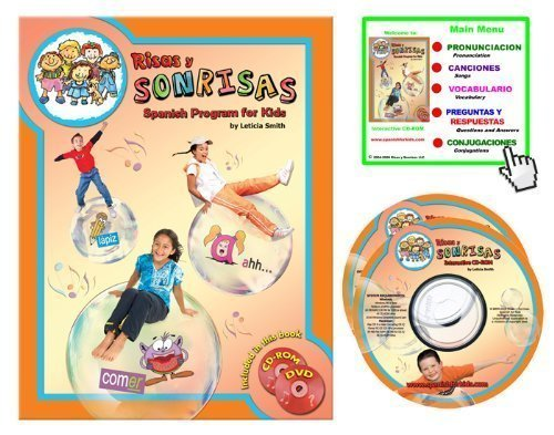 Risas y Sonrisas Spanish Program for Kids - Student Book with CD-ROM and Skits DVD