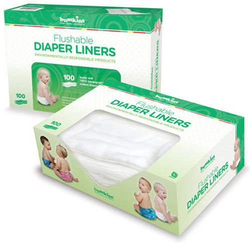 Images: Bumkins Flushable Diaper Liner | 100% biodegradable and flushable | easiest clean-up solution for soiled diapers