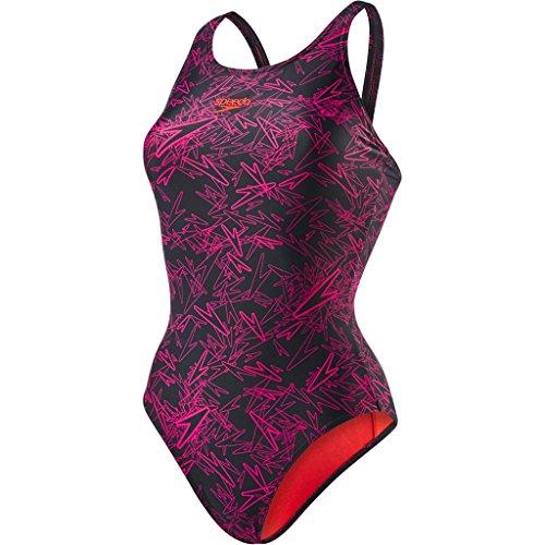 Muscleback Nero Boom Allover Speedo da Bagno Elettrico da Donna Rosa Intero Costume qw1ERE