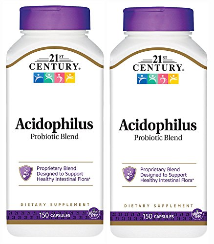 21st Century Acidophilus Probiotic Blend Capsules, 150-Count (Pack of - Probiotic Blend Acidophilus
