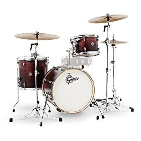 Gretsch Drums CT1-J483-SAF Catalina Club 3 Piece Drum Shell Pack, Satin Antique Fade 10