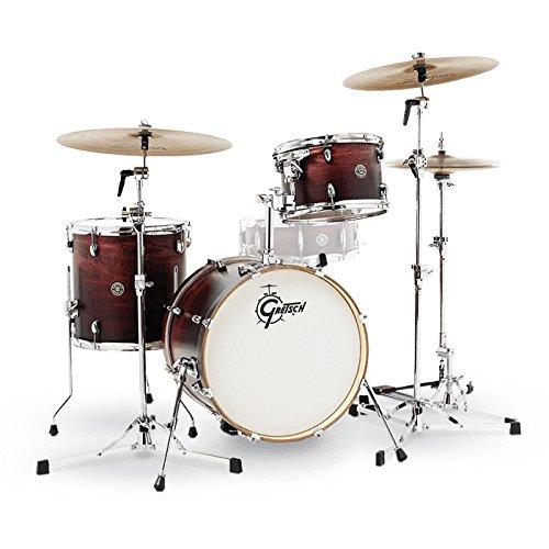 Club Drum (Gretsch Drums CT1-J483-SAF Catalina Club 3 Piece Drum Shell Pack, Satin Antique Fade)