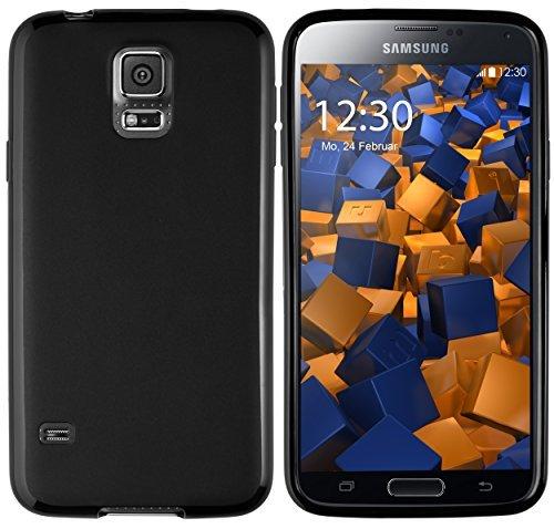 mumbi Schutzhülle Samsung Galaxy S5 / S5 Neo Hülle (Rückseite leicht matt schwarz)