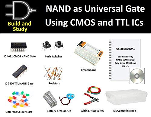 INVENTIONS Pack of 10 Kits x Build and Study NAND as Universal Gate Using  CMOS and TTL ICS