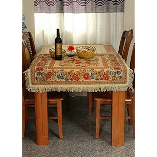 dining room table cloth. Tache 35 X Inch Floral Country Rustic Morning Meadow Square Woven Tapestry Tablecloths - 3098 Dining Room Table Cloth