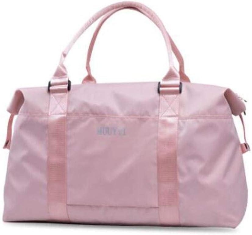 Duffel Waterproof Bag Female Hand Bag ZHICHUANG Fitness Bag Large-Capacity Travel Bag Black Large Size: 501833 Travel Duffel Bag for Men and Women