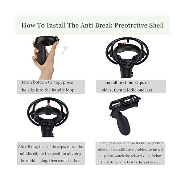 1 Pair Anti Break Shell Protective Frame for Oculus Quest & Oculus Rift Controllers Collision Protection 2