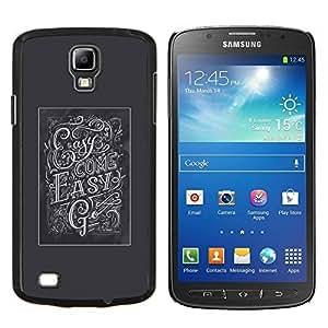 TECHCASE---Cubierta de la caja de protección para la piel dura ** Samsung Galaxy S4 Active i9295 ** --Easy Come Go Inspiring Gris Poster