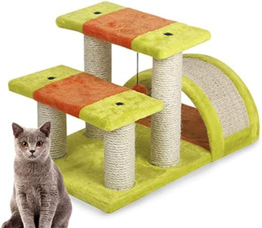 Pet Rack para Gatos de Doble Salto, Marco de Escalada del Gato del Puente de Arco, Tabla para rascar el Gato, más Divertido árbol de Gato, Plataforma de Salto para Gatos: Amazon.es: