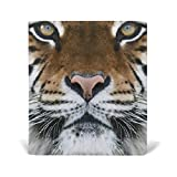 quilting material organic - Tiger Pattern Print Book Covers, Fits Most Hardcover Textbooks up to 9 x 11 Inch, PU Leather School Book Protector, Easy to Put On Jacket.