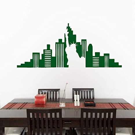 Nueva York Skyline Wall Decals Sala de estar Comedor ...