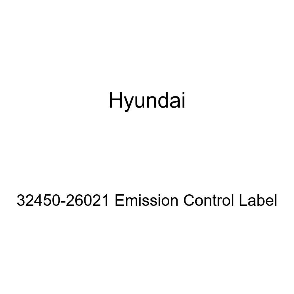 Genuine Hyundai 32450-26021 Emission Control Label