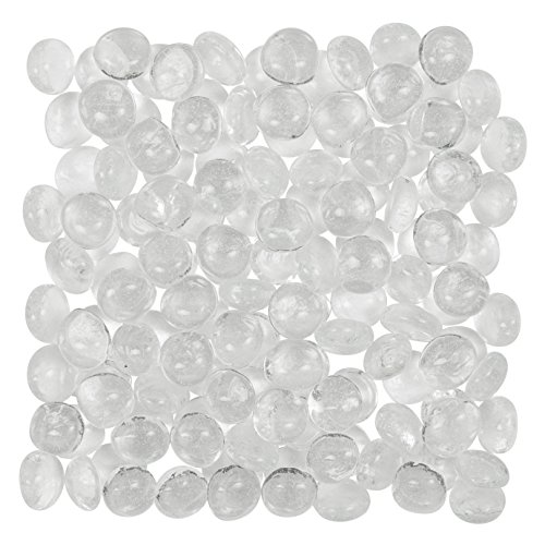 (Artisan Supply Clear Glass Gems 1 Lbs. — FILLS 1 1/4 Cups Vol. —Non-Toxic Lead Free Vase Filler, Table Scatter, Aquarium Fillers — Beautiful, Smooth, Fun, Vibrant Colors Crafted in the USA)