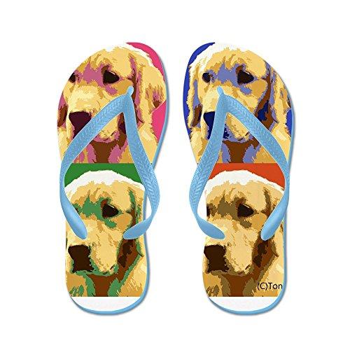 26a4cd064717 ... Beach Sandals. hot sale CafePress - Golden Retriever Pop Art Flip Flops  - Flip Flops