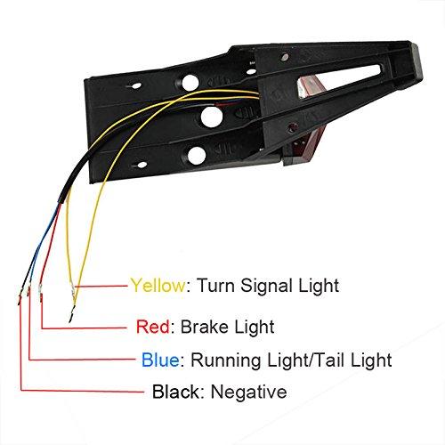 Oumurs Dirt Enduro Bike LED Rear Fender Brake Tail Light Turn Signal Light Off-road For KTM Honda Yamaha Suzuki Red