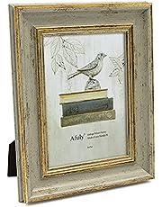 Afuly Antiek 7x5 fotolijst in goud en retro groen voor bureaumuur tafelblad