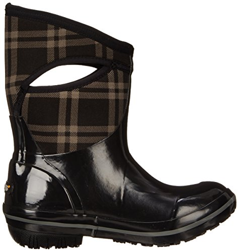 Bogs Snow Plaid Mid Winter Women's Plimsoll Black Boot wFxnrwTBq