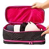 Large Travel Bra Organizer By B&C - Premium Underwear Storage Bag For Women