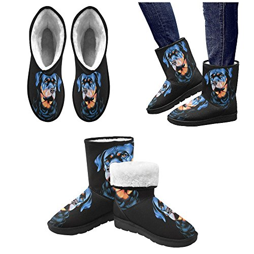 D-Story American Flag and Eagle Eye Unisex Snow Boots Casual Womens Mens Boots Multicoloured6