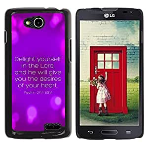 Paccase / SLIM PC / Aliminium Casa Carcasa Funda Case Cover para - BIBLE Psalm 37:4 Delight Yourself In The Lord - LG OPTIMUS L90 / D415